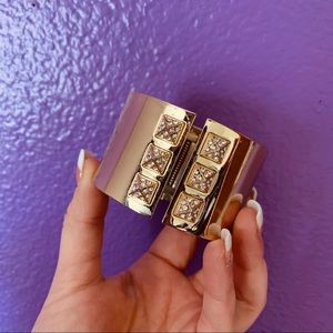 Gold Victoria Secret Cuff Bracelet